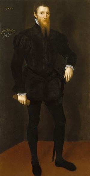 John Astley (courtier) - John Astley in a portrait from 1553-4.