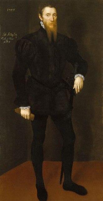 John Astley (courtier) - John Astley in a portrait from 1553-4.