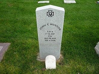 John C. Hunton - Hunton's grave.