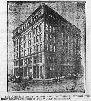 Great Baltimore Fire - John E. Hurst Building, site of the fire's outbreak