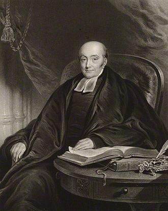 John Watson (priest) - John James Watson, 1834 engraving by Charles Turner, after Edmund Thomas Parris
