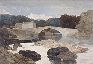 John Sell Cotman - Greta Bridge (watercolour, 1805)
