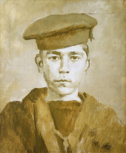 John travers cornwell, boy 1st class (1900 1916), by ambrose mcevoy