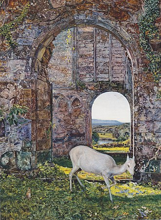 The White Doe of Rylstone - The White Doe of Rylstone by John William Inchbold