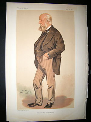 "John Willis Clark - ""Cambridge Registrary"". Caricature by Spy published in Vanity Fair in 1894."