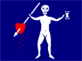Jolly Roger pirate flag of Charles Harris.png