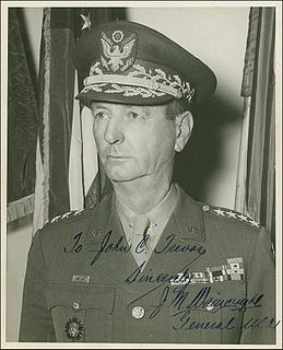 Jonathan M. Wainwright (general) American WWII army general captured by Japanese