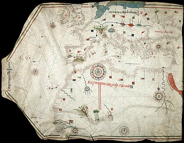 Portolan chart by Jorge de Aguiar
