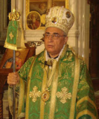 Pictured during a liturgy