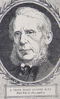 Joseph Pease (railway pioneer) English railway pioneer