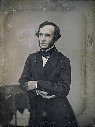 Juan Bautista Alberdi - daguerreotype taken in Chile, dated between 1850 and 1853