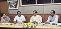 K. Pandiarajan holding a meeting with the Minister of State for Culture (IC) and Environment, Forest & Climate Change, Dr. Mahesh Sharma, for assistance in the area of Culture, in New Delhi.jpg