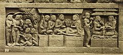 KITLV 40081 - Kassian Céphas - Relief of the hidden base of Borobudur - 1890-1891.jpg