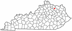 Location of Flemingsburg, Kentucky