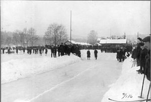 Kadettangen - From the opening of the speed skating rink in 1916