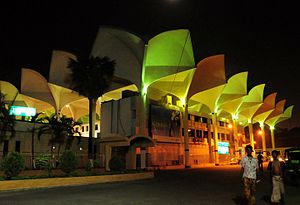 Bangladesh Railway - Kamalapur railway station at night