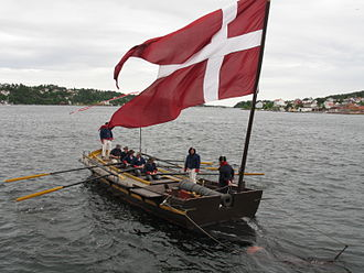Battle of Lyngør - Replica of the small rowed gunboats participating in the battle.
