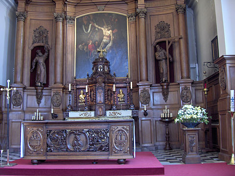 High altar of the Capuchin church in Ostend, Belgium. Kapucijnenkerk.hoofdaltaar02.jpg