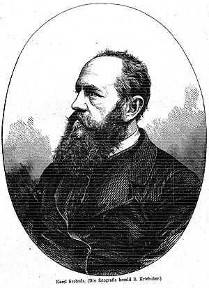 Karel Svoboda (artist) - Karel Svoboda. Lithograph by Friedrich Kriehuber (1870)