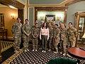 Karen Pence with female troops in Erbil Air Base 03.jpg