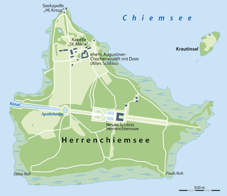 Herreninsel - Map
