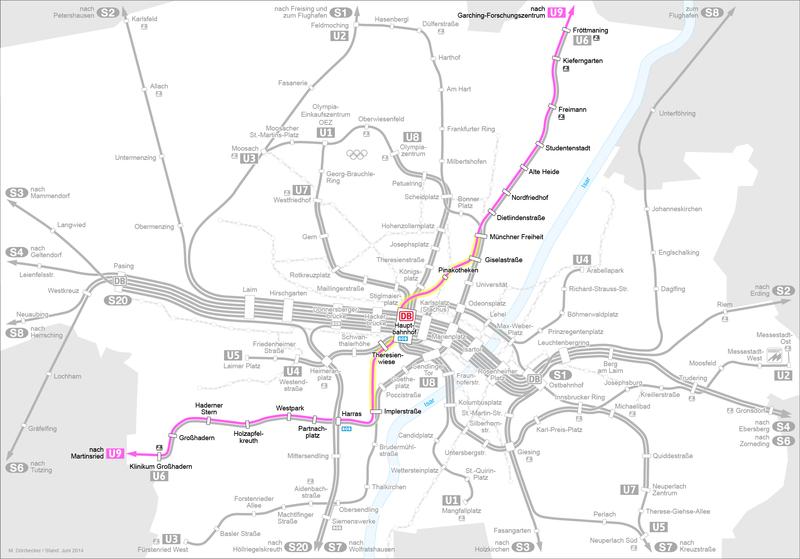 File Karte Der Geplanten U9 Spange Der U Bahn Munchen Png Wikipedia