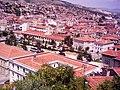 Kastamonu saat kulesinden Cumhuriyet meydanı - Alparslan Türkeş Parkı PTT ve Askerlik Şubesi (2004) - panoramio.jpg