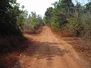 Kavathar - Main road that runs through the entire village of Kavathar