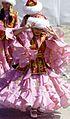 Kazakh girls wear traditional Kazakh costumes.JPEG