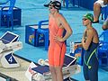 Kazan 2015 - Missy Franklin and Daria Ustinova 200m backstroke.JPG