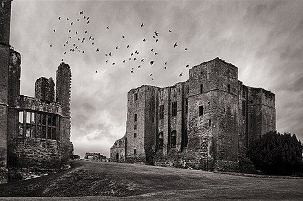 The picturesque and evocative ruin is a common theme in Gothic literature. This image shows the ruins of Kenilworth Castle. Kenilworth Castle England.jpg