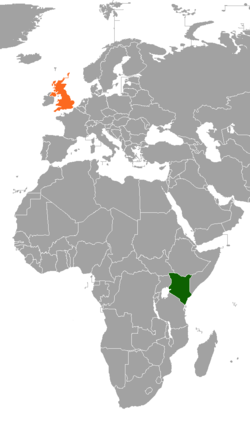 Kenyaunited kingdom relations wikipedia map indicating locations of kenya and united kingdom gumiabroncs Gallery