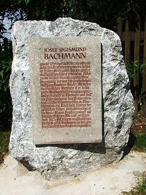 Joseph Siegmund Bachmann - Memorial stone for Joseph Siegmund Bachmann in Kettershausen