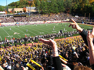Appalachian State Mountaineers football - Kidd Brewer Stadium with over 28,000 in attendance