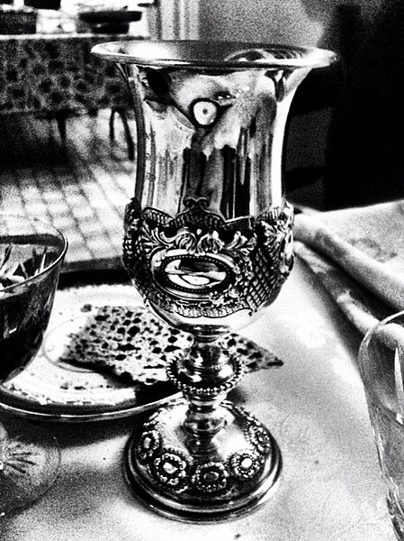 File:Kiddush cup and matza Toronto Ontario Canada.jpg