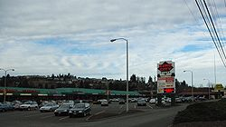 Strip mall on 99W