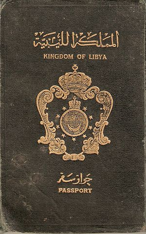 Libyan passport - Image: Kingdom of Libya Passport