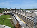 Kingston station from Route 138 bridge, May 2017.JPG