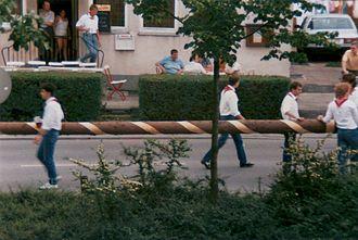 Kirchweih - Erecting a tree, the Kärwaboum in Franconia