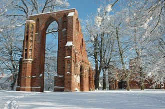 Greifswald - Eldena Abbey was founded in 1199. Today only its ruins remain.