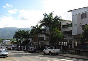 Koné, New Caledonia - The main road in the centre of Koné
