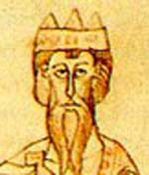 Conrad II, Holy Roman Emperor - Conrad II, depicted in the Chronicle of Ekkehard von Aura