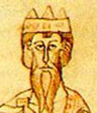 Conrad II, Holy Roman Emperor - Conrad II, depicted in the Chronicle of Ekkehard von Aura
