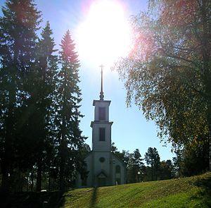 Korpilombolo - Korpilombolo Church in early-September 2014