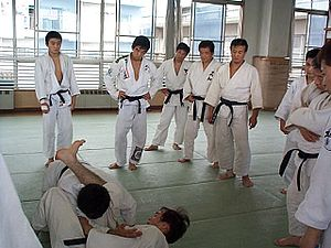 Kosen judo - Modern kosen training in Japan.