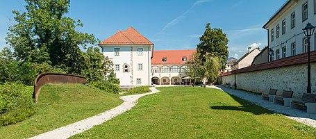 Panorama of Kieselstein Castle in Kranj, Slovenia