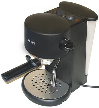 Espresso machine - A typical, pump-driven consumer espresso machine