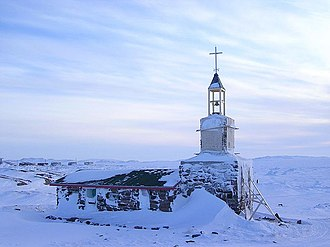 Kugaaruk - Stone church in Kugaaruk
