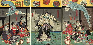 Japanese folklore - Kuniyoshi Utagawa, The Ghosts, c. 1850.