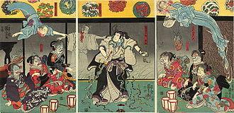 Japanese folklore - Kuniyoshi Utagawa, The Ghosts, c. 1850.